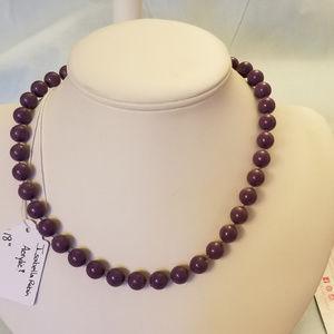 "NWT Handmade ""Pearl"" Necklace 18"" Purple"